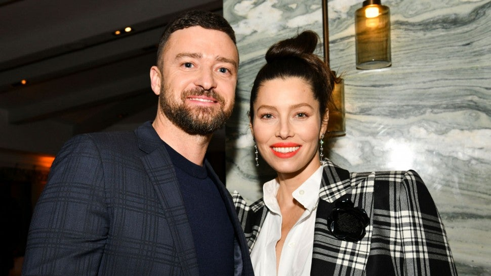 Justin Timberlake and Jessica Biel pose for portrait at the Premiere The Sinner Season 3