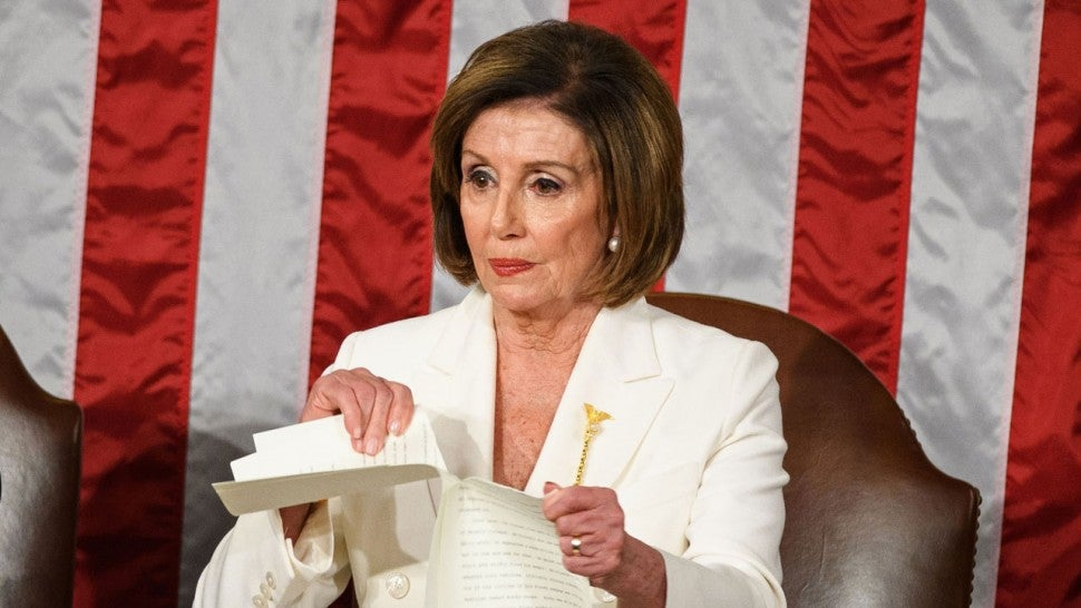 nancy pelosi rips state of the union address