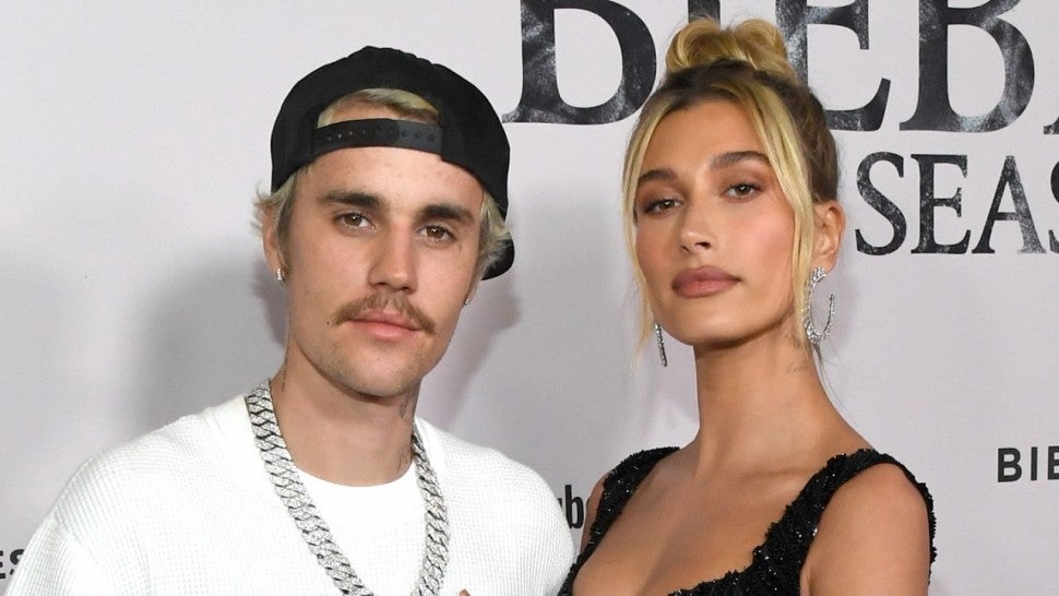Justin Bieber and wife Hailey at Seasons premiere