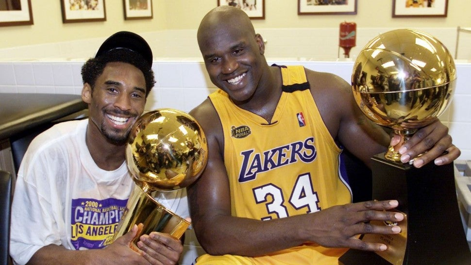 Shaq O'Neal and Kobe Bryant