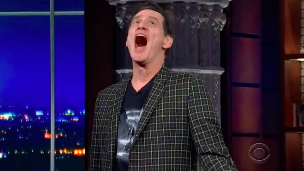 Jim Carrey on 'The Late Show'