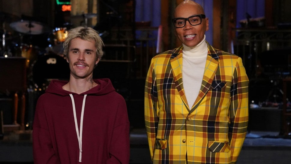 Justin Bieber and RuPaul on 'Saturday Night Live'