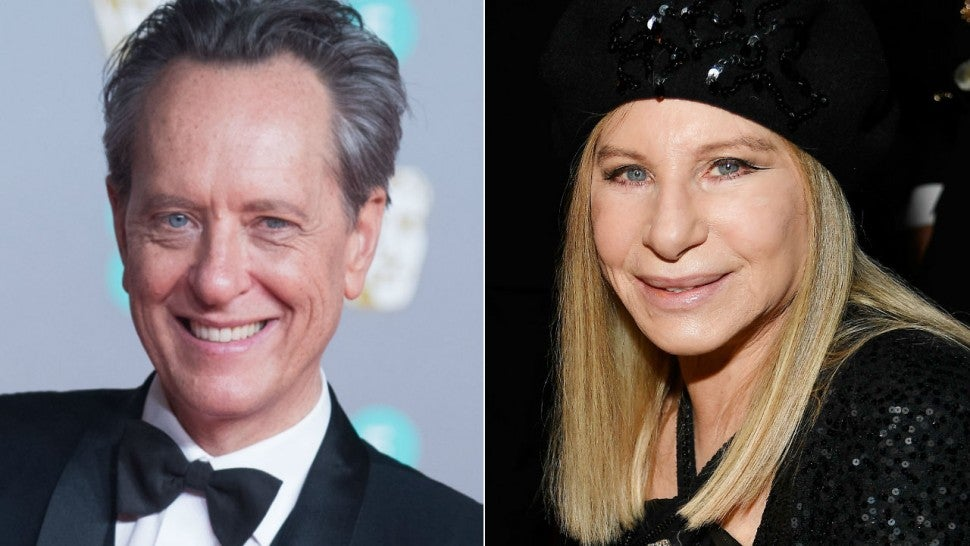 Richard E. Grant and Barbra Streisand
