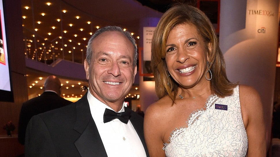 Joel Schiffman and Hoda Kotb