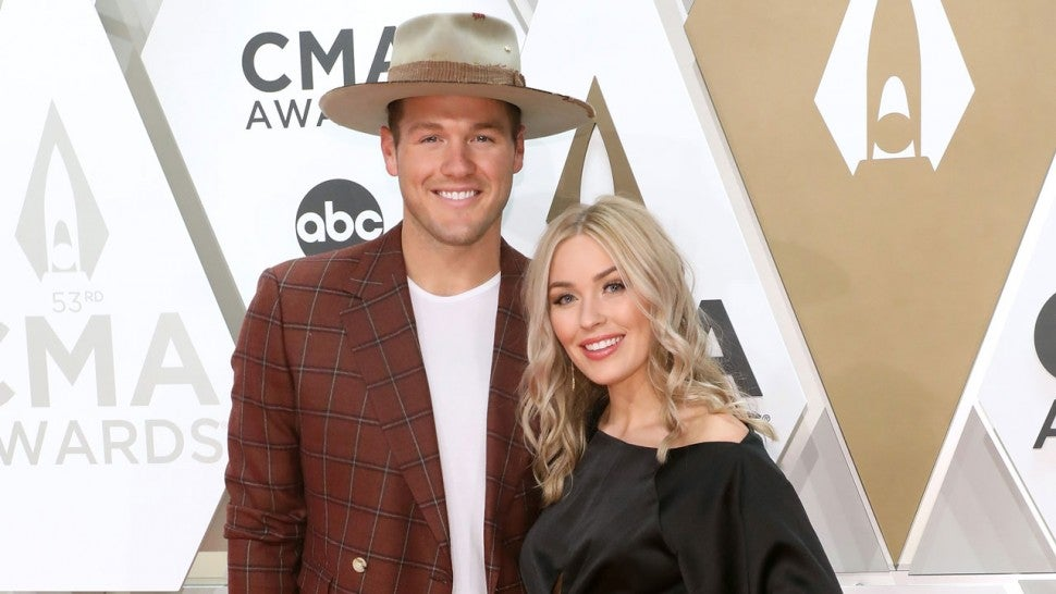 Colton Underwood and Cassie Randolph at 20l9 CMA Awards