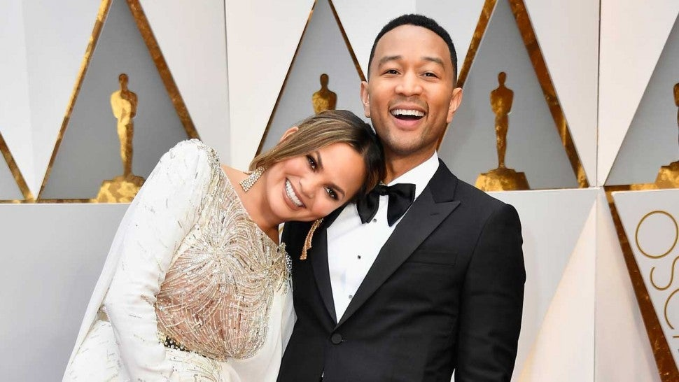 Chrissy Teigen and John Legend at the 89th Annual Academy Awards