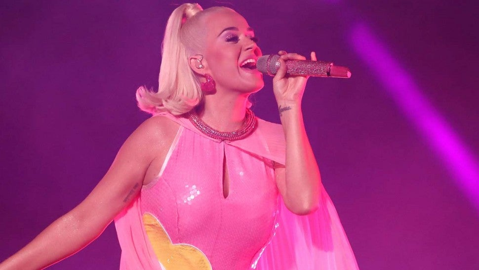 Katy Perry performs at the Women's Cricket World Cup Final in Melbourne, Australia, on Mar. 7
