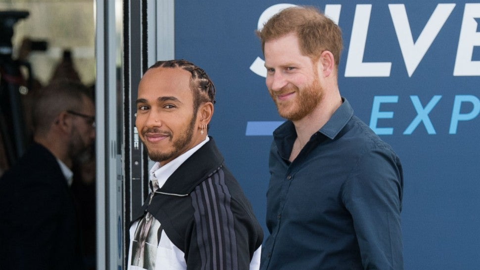 Prince Harry Opens British Racing Museum With Lewis ...