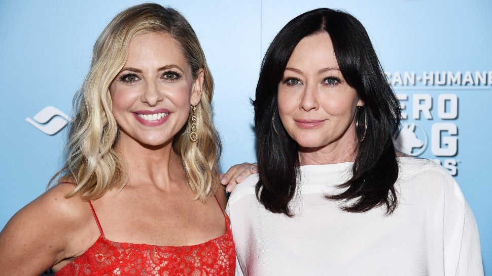 Sarah Michelle Gellar and Shannen Doherty