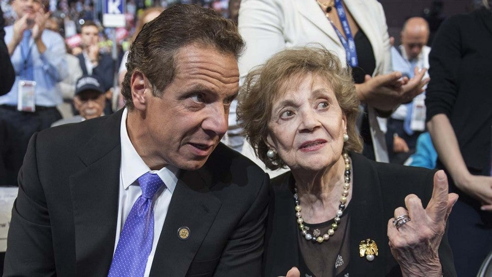 Andrew Cuomo sits with his mother, Matilda.