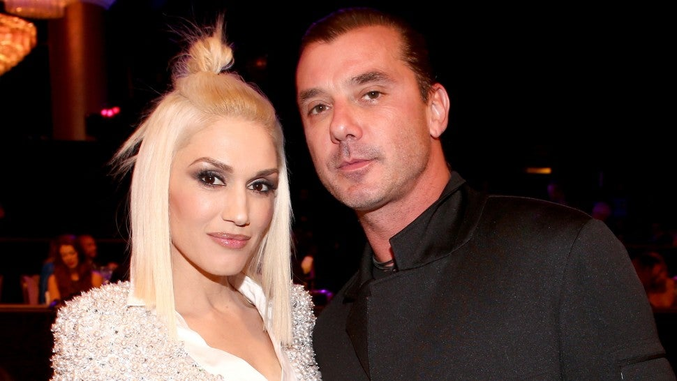 Recording artists Gwen Stefani (L) and Gavin Rossdale