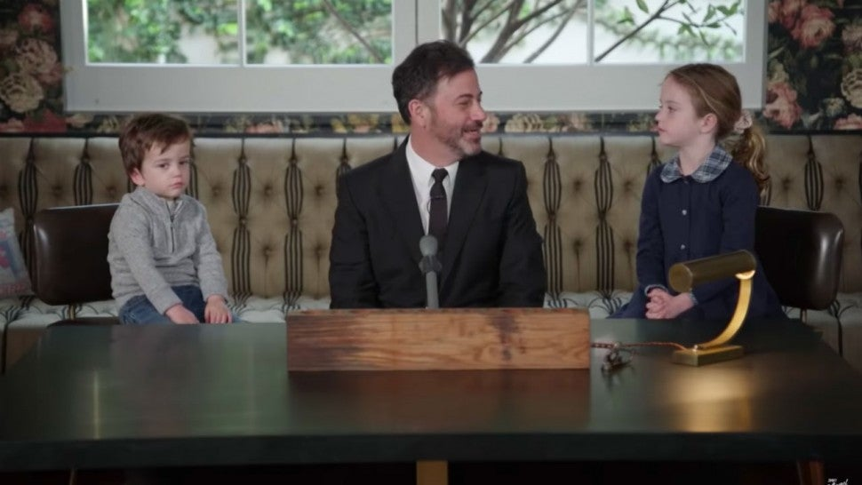 Jimmy Kimmel with kids Billy and Jane