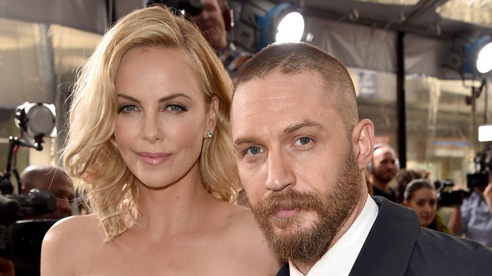 Charlize Theron and Tom Hardy at the premiere of Mad Max: Fury Road