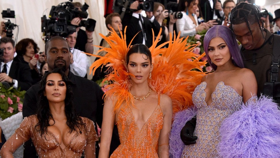 Kanye West, Kim Kardashian West, Kendall Jenner, Kylie Jenner and Travis Scott at 2019 met gala