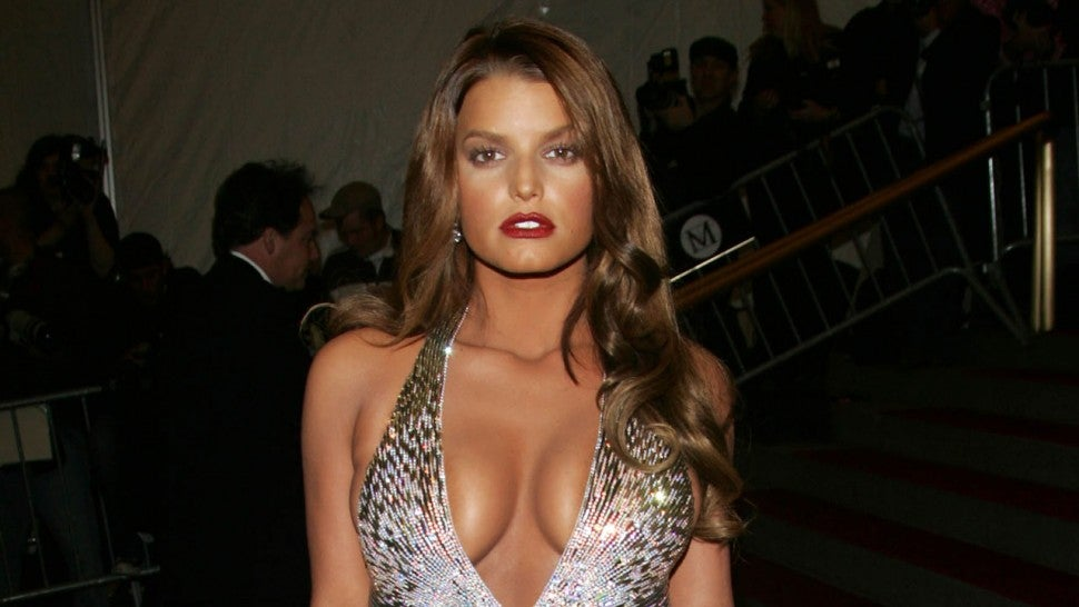 Jessica Simpson at met gala 2007