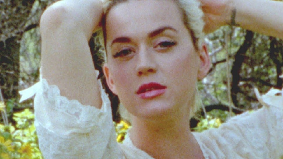 Pregnant Katy Perry strips completely naked and shows off