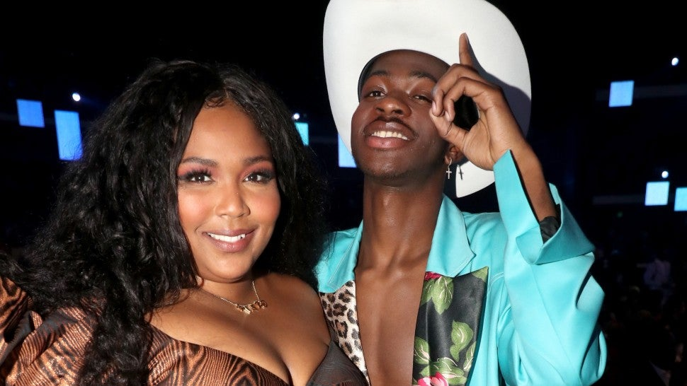 Lizzo and Lil Nas X attends the 2019 BET Awards at Microsoft Theater on June 23, 2019 in Los Angeles, California.