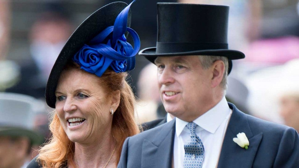 Prince Andrew Poses With Ex Sarah Ferguson And Daughters Princess