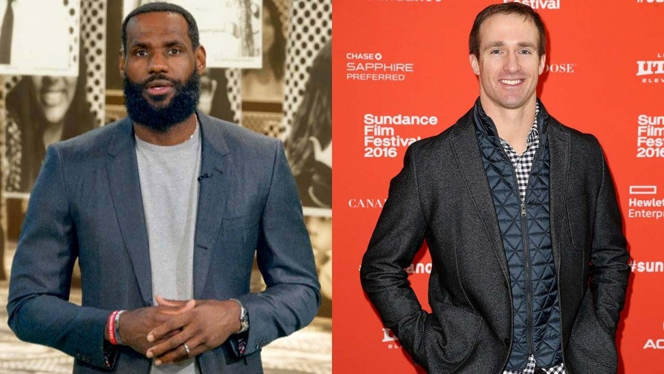 LeBron James and Drew Brees