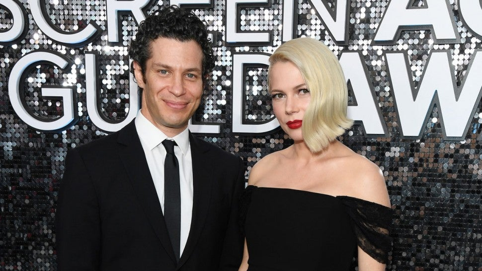 michelle williams and her fiance at sag awards 2020