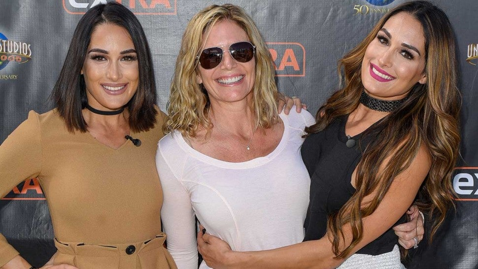 Brie Bella, Kathy Colace and Nikki Bella