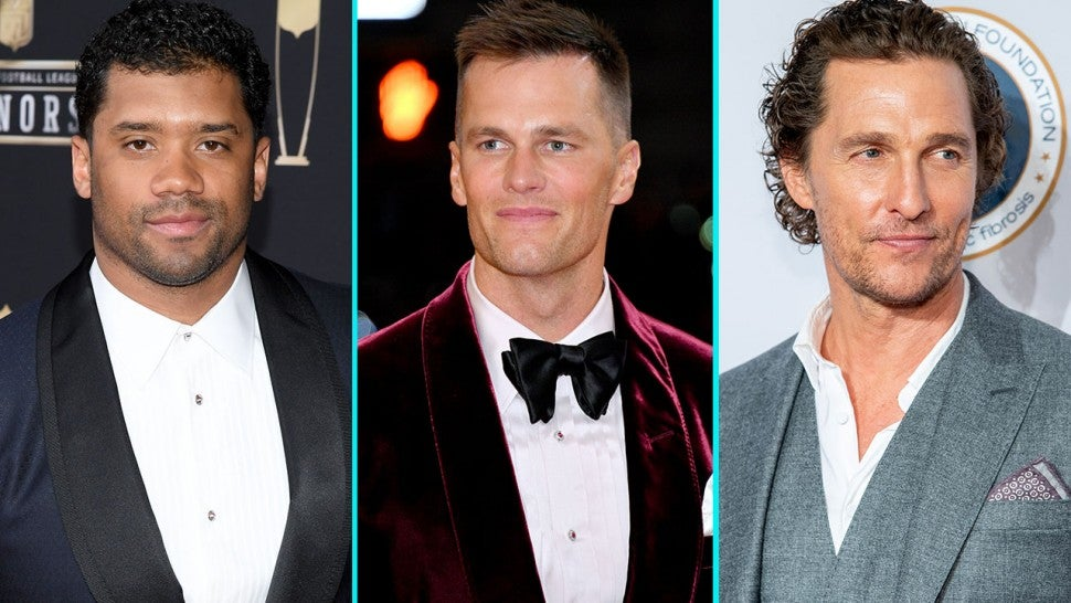 Russell Wilson, Tom Brady and Matthew McConaughey