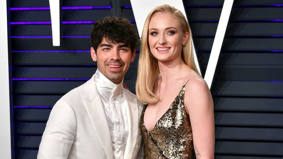 Joe Jonas and Sophie Turner at the 2019 Vanity Fair Oscar Party