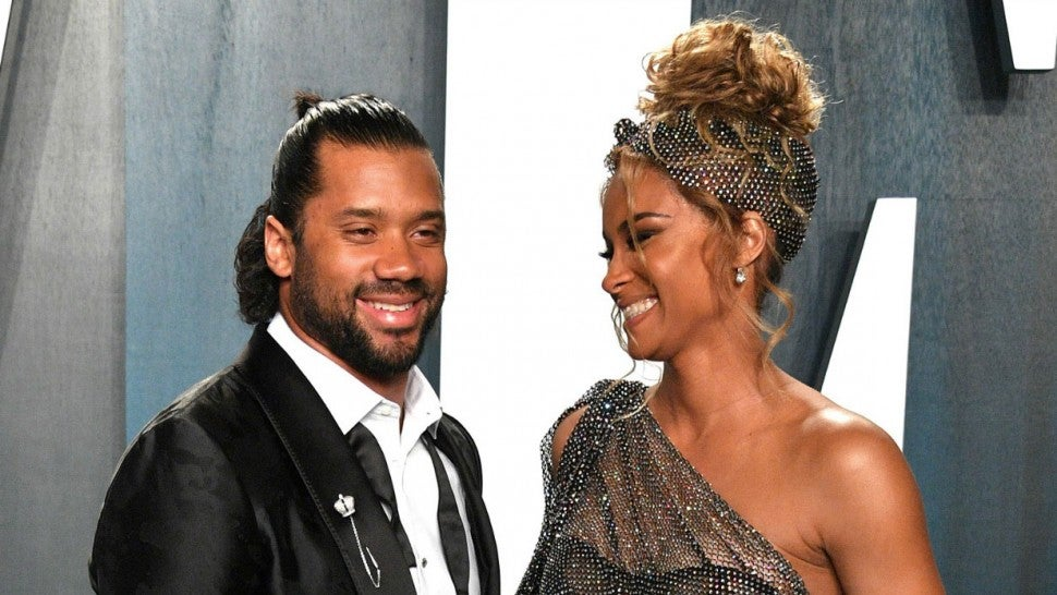 Ciara and Russell Wilson at VF oscar party 2020