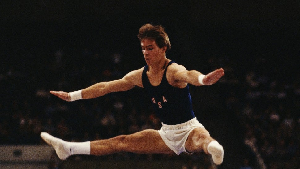 Kurt Thomas of the United States performs during the Men's All-around event on 29th October 1979 during the World Artistic Gymnastics Championships in Fort Worth, Texas, United States.