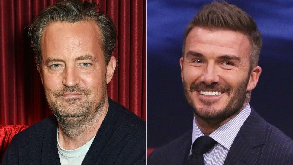 Matthew Perry Jokes About David Beckham's 'Friends' Shirt ...