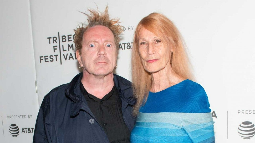 Johnny Rotten and Nora Forster