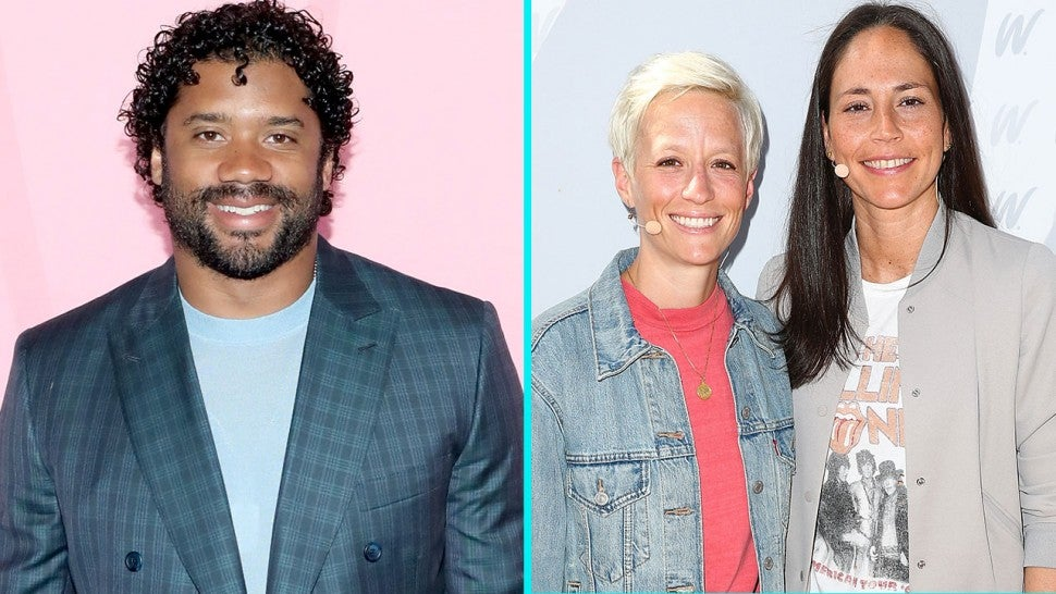 Russell Wilson, Megan Rapinoe and Sue Bird
