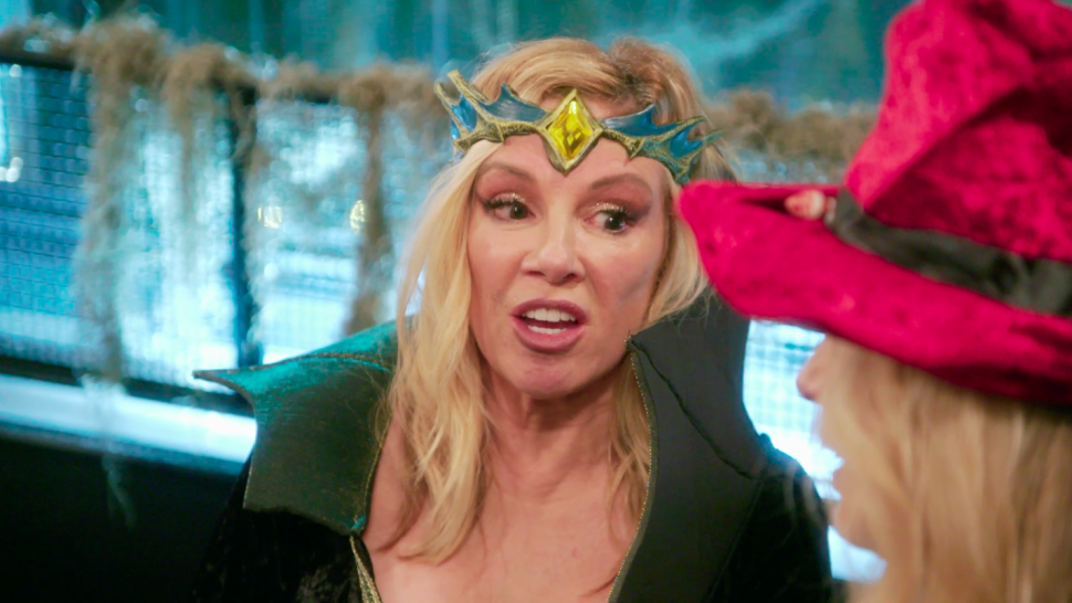 Ramona Singer attends a Halloween party on 'The Real Housewives of New York City.'