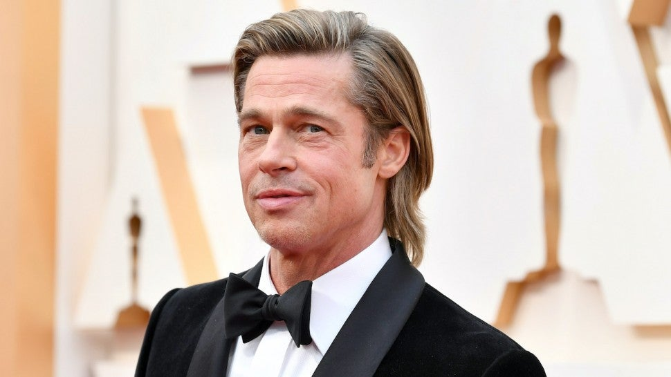 Brad Pitt Sports Small Ponytail While Out and About in Beverly Hills.jpg