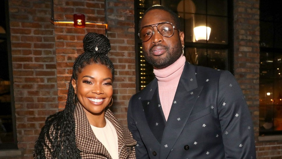 Gabrielle Union and Dwyane Wade at Stance Spades At NBA All-Star 2020