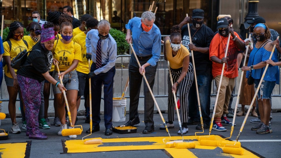 New York City Paints 'Black Lives Matter' in Front of Trump Tower ...