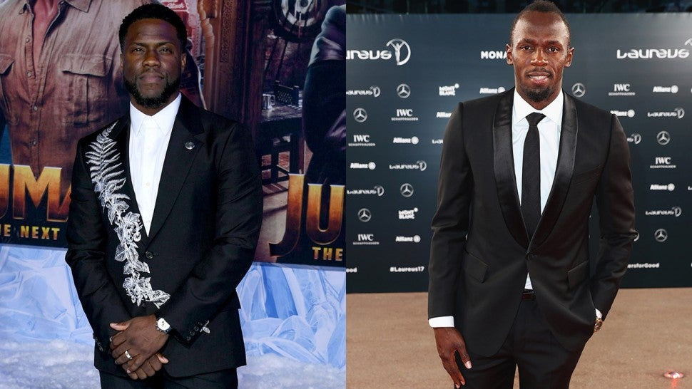Kevin Hart and Usain Bolt