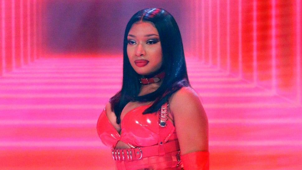 Episode 1209 -- Pictured: Musical guest Megan Thee Stallion performs on February 13, 2020 -