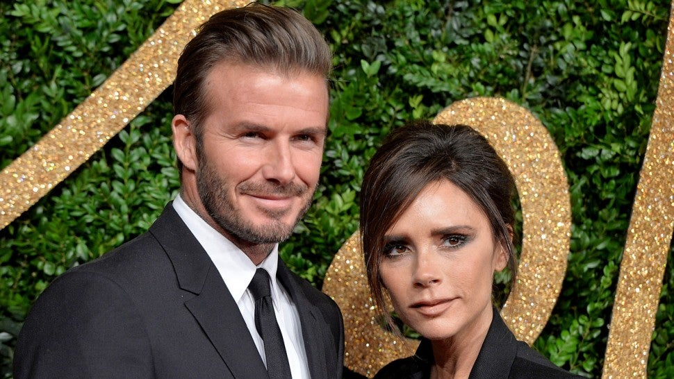 David Beckham and Victoria Beckham at the British Fashion Awards 2015