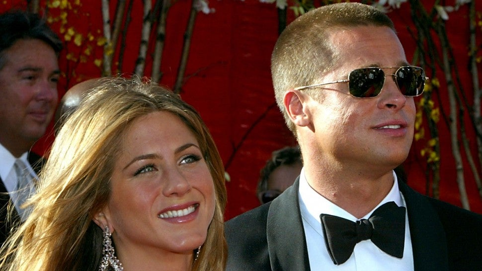 Jennifer Aniston and Brad Pitt at the 56th Annual Primetime Emmy Awards