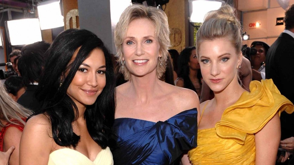 Jane Lynch Naya Rivera Heather Morris
