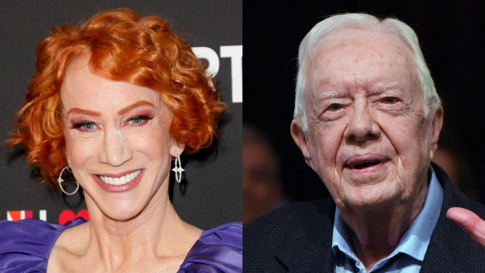 Kathy Griffin and Jimmy Carter