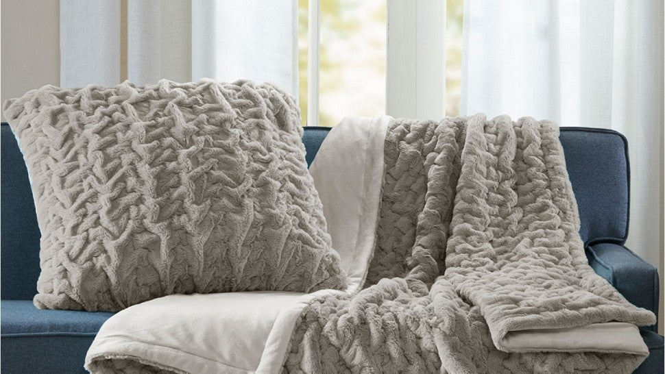 Madison Park Faux Fur Throw