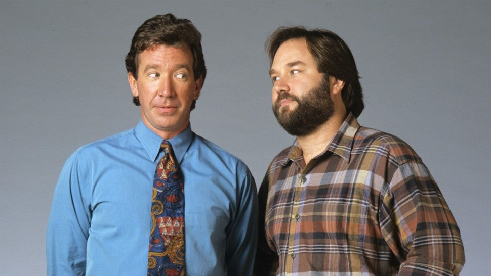 Home Improvement Stars Tim Allen And Richard Karn Reunite For Competition Series Assembly Required Entertainment Tonight