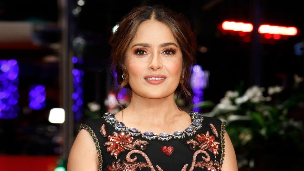 Salma Hayek at the premiere of 'The Roads Not Taken'