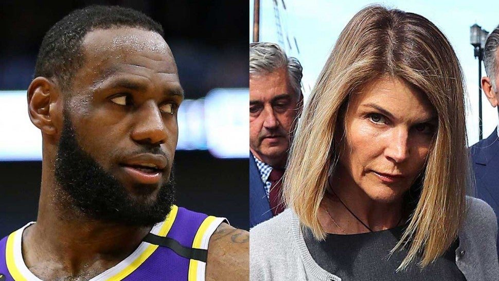 LeBron James and Lori Loughlin