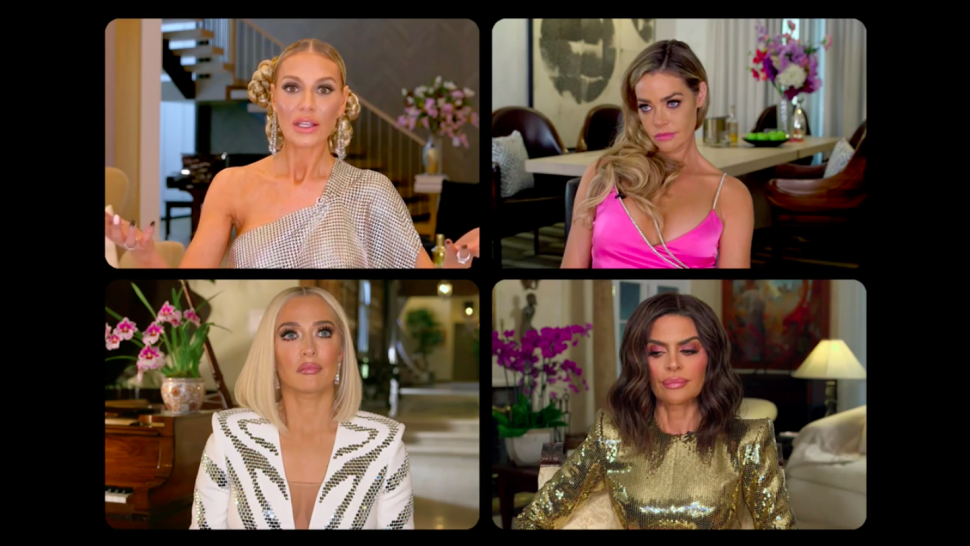 Dorit Kemsley, Denise Richards, Erika Jayne and Lisa Rinna on 'The Real Housewives of Beverly Hills' season 10 reunion.