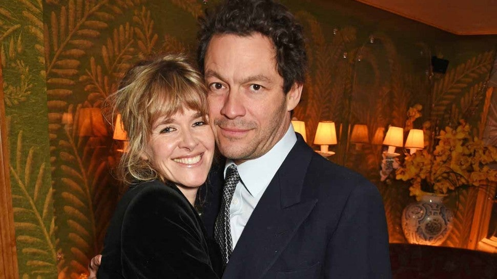 Catherine Fitzgerald (L) and Dominic West attend the Farms Not Factories #TurnYourNoseUp at Pig Factories benefit dinner 'Upstairs' at 5 Hertford Street on January 31, 2017 in London, England.