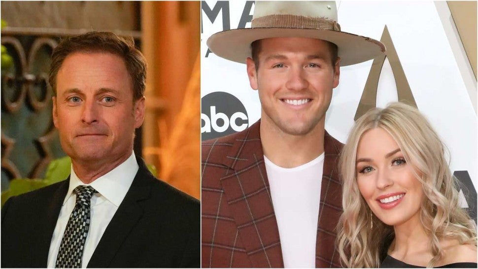 Chris Harrison Colton Underwood Cassie Randolph Split