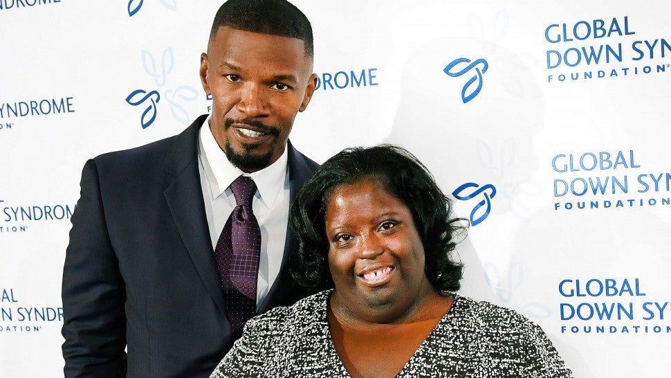 Movie star Jamie Foxx poses on the red carpet with his sister DeOndra Dixon while attending the Global Down Syndrome Foundation's 2016 'Be Beautiful, Be Yourself' fashion show at the Hyatt Regency Hotel on November 12, 2016 in Denver, Colorado. A night of advocacy, and empowerment, the event is the single largest fundraiser benefitting people with Down syndrome in the world, having raised over $12 million to date